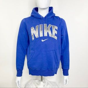 Nike Blue Hooded Sweatshirt men's sz L